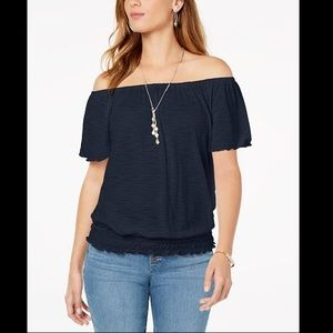 STYLE&CO CONVERTIBLE OFF THE SHOULDER TOP
